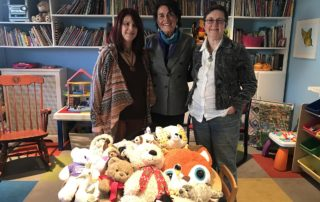 Cheryl who recently donated stuffed animals